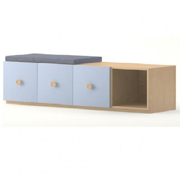 meuble de rangement 3 portes et 1 casier meubles rangement. Black Bedroom Furniture Sets. Home Design Ideas