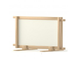 Cloisonnette panneau blanc 120*60cm pour barrière